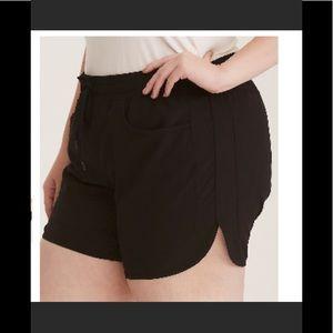 NWT Torrid Active Black Nylon Women Running Shorts
